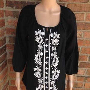 New CHARTER CLUB Luxury Size M 100% Linen Blouse